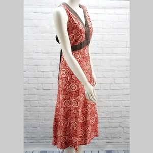 Patagonia Red Hemp Maxi Sun Dress size 6